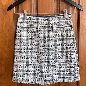 BRAND NEW H&M b&w/blue patterned skirt
